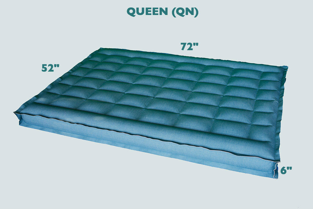 "QUEEN Size REM Air Systems Air Chamber Replacement Compatible with Select Comfort Sleep Number Dual Hoses (Cotton, 72"" L x 52"" W x 6"" H) …"