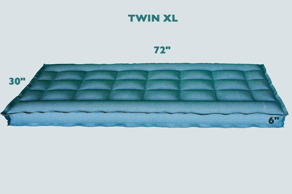 "TWIN XL REM Air Systems Air Chamber Replacement Compatible with Select Comfort Sleep Number Dual Hoses (Cotton, 72"" L x 30"" W x 6"" H) …"