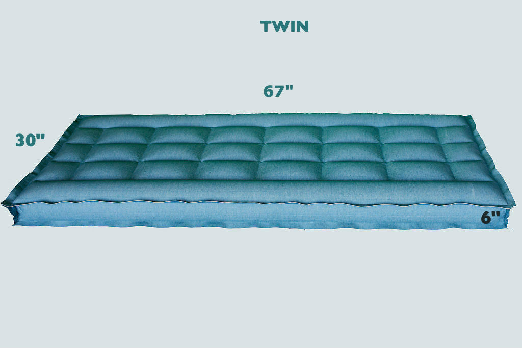 "TWIN REM Air Systems Air Chamber Replacement Compatible with Select Comfort Sleep Number Dual Hoses (Cotton, 67"" L x 30"" W x 6"" H) …"
