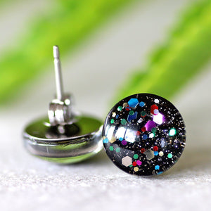 12mm GLASS STUDS - RAINBOW UNIVERSE