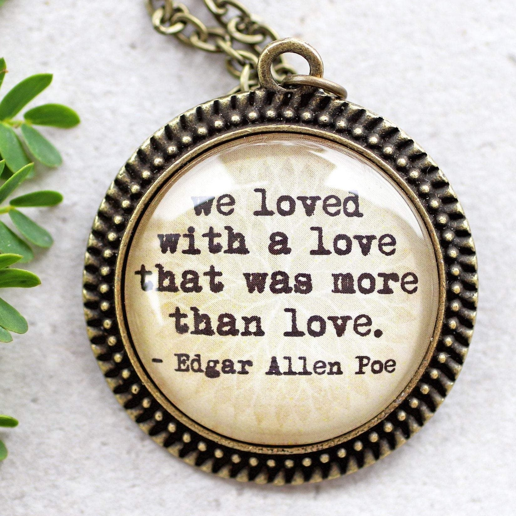 "EDGAR ALLEN POE - ""we loved with a love that was more than love"""