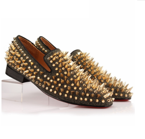 Spikes Rhinestone Loafer