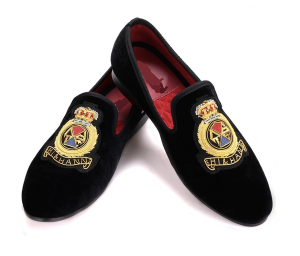 Three-dimensional embroidery Banquet Loafers
