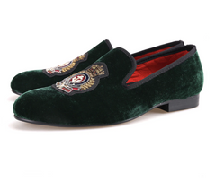 Velvet Hand stitch Bullion embroidery Loafers