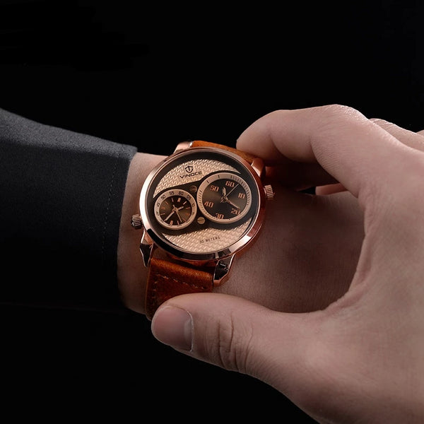 Leather Relogio Masculino Wristwatches