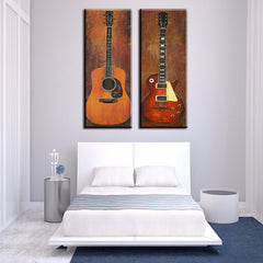 2 piece music studio room guitar