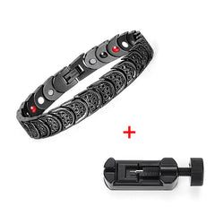 Magnetic Health Care Elements Stainless Steel Bracelet