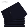 Suit Pants Navy Blue Black Solid Color Flat Front Long Trouser