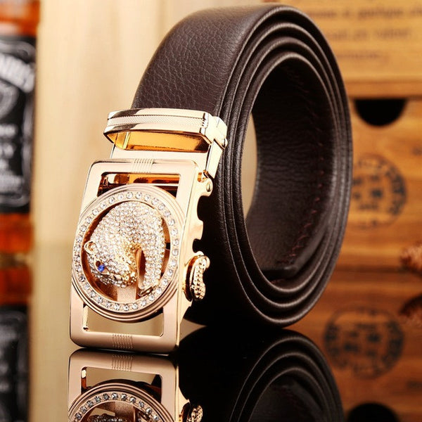 Fiber leather automatic belt