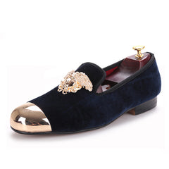 Velvet  Tiger Gold Buckle Loafer