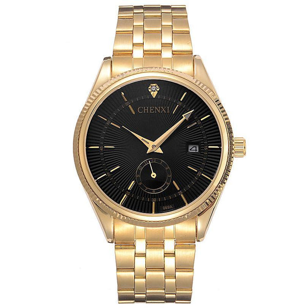Gold Luxury Quartz Wrist Watch