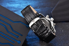 Analog Leather Quartz Waterproof Watch