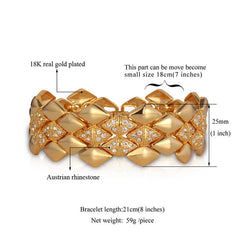 Geometric  Gold Color Rhinestone Bracelets