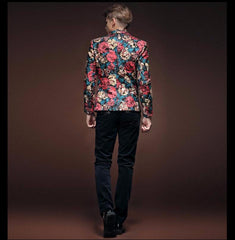 Flower  Floral suit blazer