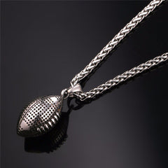 Gold Stainless Steel American Football Fitness Chain