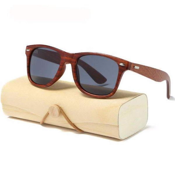 Handmade Wood Sunglasses square Sunglasses