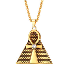 Ankh Egyptian Cross Pendant & Chain Necklace