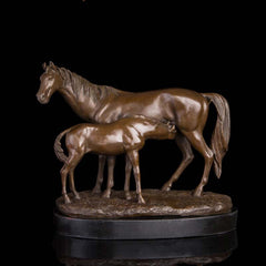 PONY AND MARE HORSE Sculpture