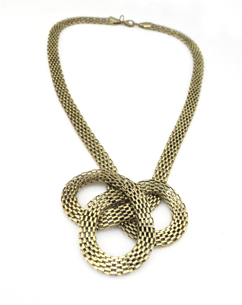 Flate Snake Chain Braided Choker Necklaces