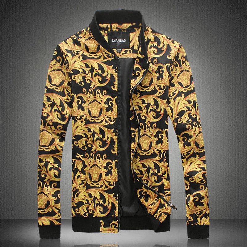 Gold  Baroque Printing Jacket