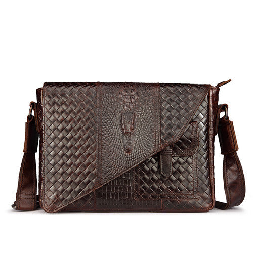 Crocodile Leather Business Bag