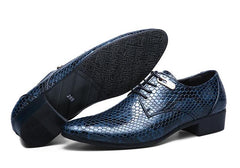 Imitate Snake Leather Oxford shoes