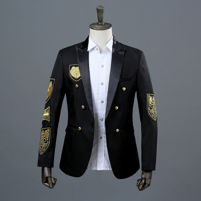 Military Medal Loose Coat Stage  Blazer