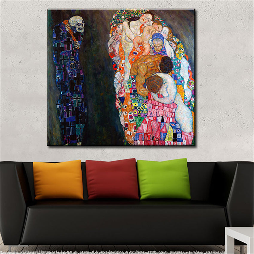 gustav klimt Death and Life wall painting