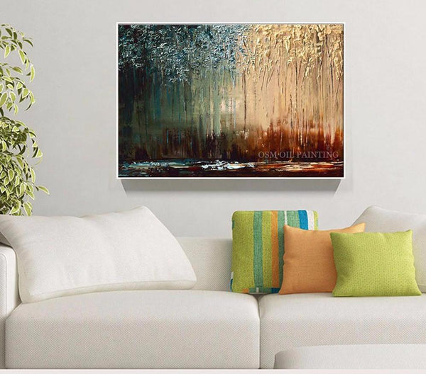 Hand-painted Interior Design Oil Painting Deep Colors