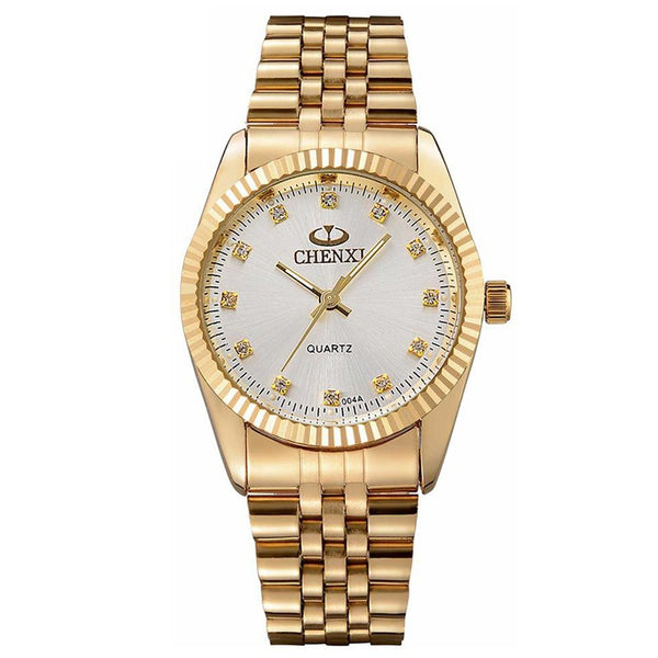 Gold Stainless Steel Quartz watch