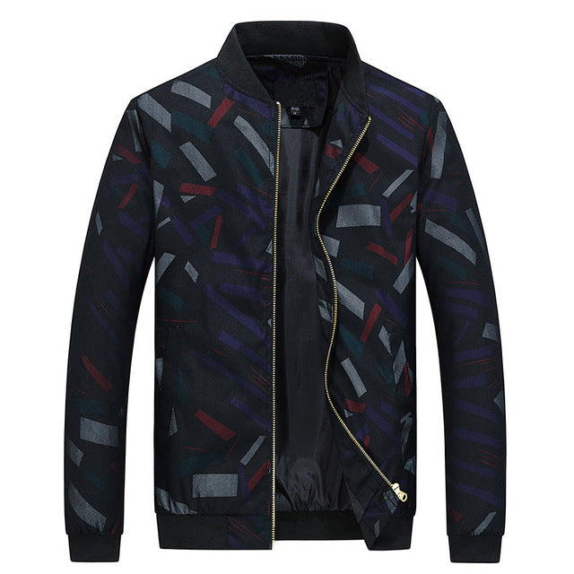 Printed Bomber Slim Fit Jacket