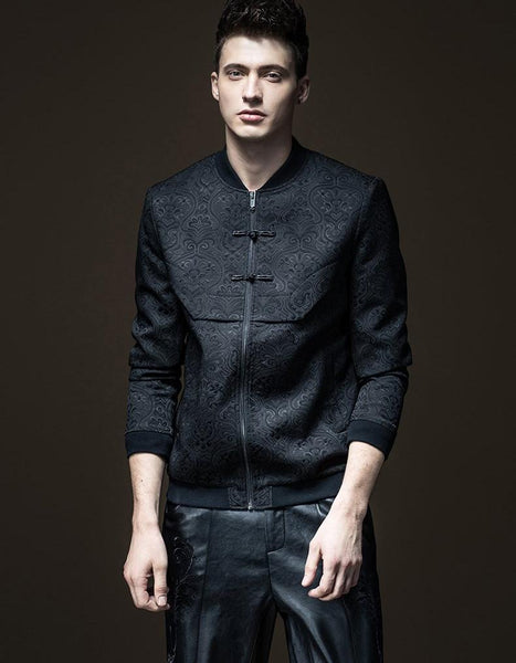 Jacquard Time-limited Standard Zipper Solid Jacket