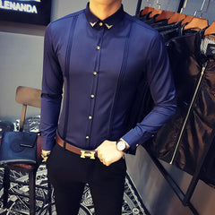 Para Hombre Slim Fit  Long Sleeve Shirt