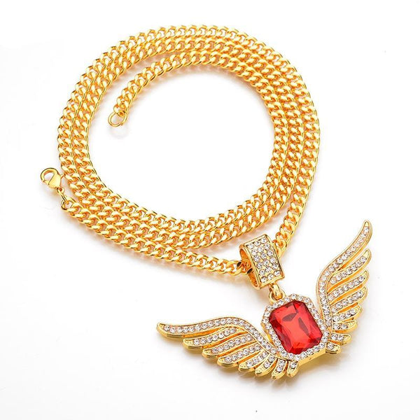 Ice Out Angle Wing Necklace