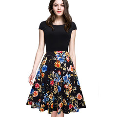 Floral Casual Stylish Elegant Print  O Neck  Dress
