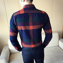 Flannel Plaid Long Sleeve Vintage Shirt