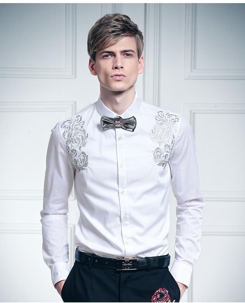 Embroidered flowers white Silver Palace shirt