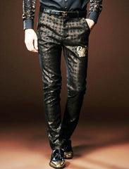 Black lattices Court  pants trousers
