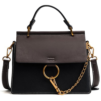 Flap Vintage Leather Tote Handbag