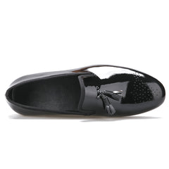 Black Patent Leather Tassel Loafers