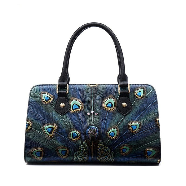 Leather Embossed Designer Handbag