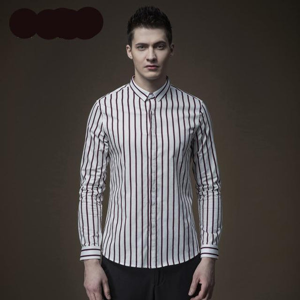 Stripes long sleeved shirt