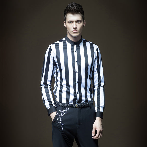 Stripe cultivate morality shirt