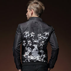 Print black pattern personality jacket