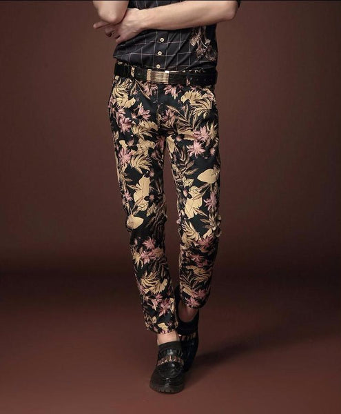 stamp ninth gold trouser