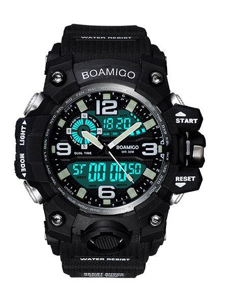 Sports LED Digital Analog Wrist Watch