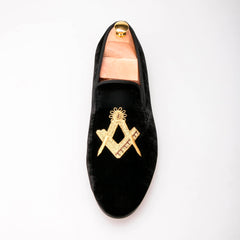 Exquisite embroidery Velvet Loafer