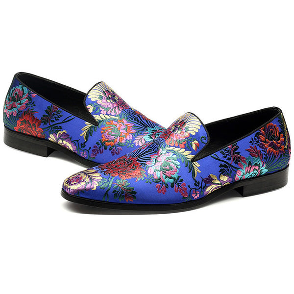 Flower embroidery design leisure Loafer