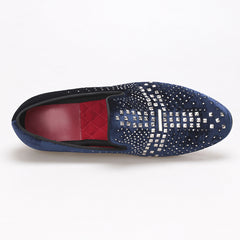 Handmade velvet luxurious Rhinestone Loafer