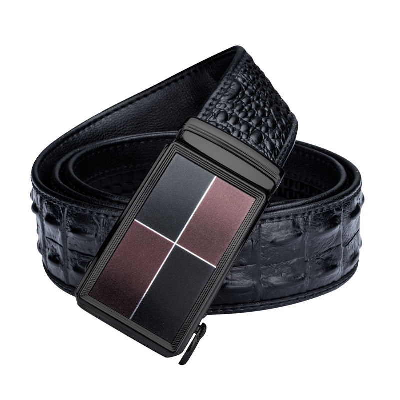 Crocodile Leather Belt Box Set